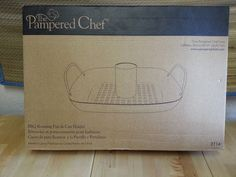 $16.00 Pampered Chef BBQ Roasting Pan and Can Holder New In Box