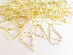 10 pcs Metal Paper Clips Gold Korean Stationery Bookmarks Cute Planner Bookmarks