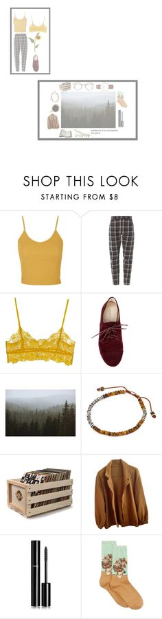 """""""don't let go."""" by piercethecashby ❤ liked on Polyvore featuring Topshop, Ganni, Sole Society, Kevin Russ, M. Cohen, Crosley Radio & Furniture, American Apparel, Chanel, HOT SOX and Daniel Wellington"""