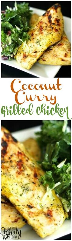 This Coconut Curry Grilled Chicken is a combination of two of my favorite meal types, grilling and Indian food. The marinade is out of this world! via @favfamilyrecipz