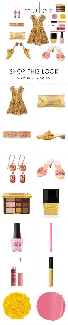 """""""Pink Or Yellow Mules"""" by siriusfunbysheila1954 ❤ liked on Polyvore featuring VBH, Emily & Ashley, Prada, Suzanne Kalan, Coach, Butter London, OPI, Too Faced Cosmetics, Charlotte Russe and Beauty Is Life"""
