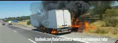 #Salamanca  [14:58] Precaución #tráfico #A_66 pk 393 sentido Salamanca. Incendio en  remolque.