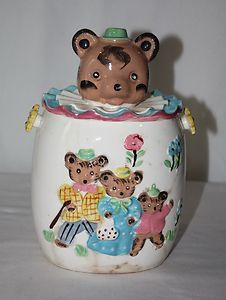 *The Three Bears Antique Cookie Jars, Goldilocks And The Three Bears, Kinds Of Cookies, Biscuits, Antiques, Sweet, Ebay, Collection, Vintage