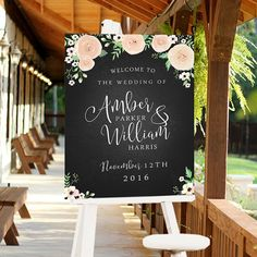 CUSTOM Printable Digital Wedding Sign Welcome Sign for by 4thAve
