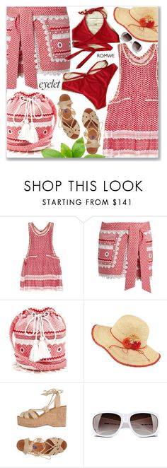 """Cozumel Vacation"" by arohii ❤ liked on Polyvore featuring Dodo Bar Or, Frontgate, Ralph Lauren Collection, Moschino, romwe, eyelet and contestentry"