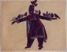"""Mequitta Ahuja - Dream Sequence: """"Stand for the Leisure of Birds"""" Enamel and Glitter on Hand-Colored Paper, 17""""X22"""" 2010 (Private Collection)"""