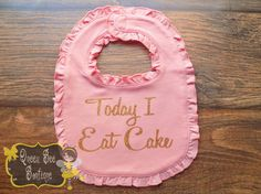 first birthday bib pink and gold first by QueenBeeBoutique127