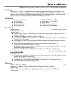 Example Of A Summary For A Resume Stunning Pinhae Rahim On Resume Examples  Pinterest  Resume Examples