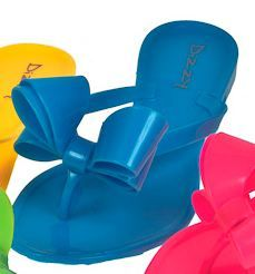 Dizzy Lounge Sandals in Neon Blue - perfect for by the pool