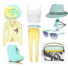 """""""mint and lemon - so spring"""" by heike-muller on Polyvore"""