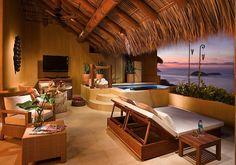 メキシコ南部のリゾート イスパタにあるCapella Ixtapa Resort & Spaのデイベッド