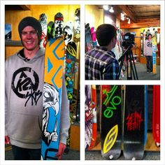 Collin stopping by evo to check out the 2013 Hellbents and Pettitor K2, Check, Instagram
