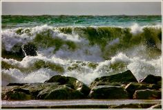 stormy sea from sud