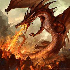 Fire Breathing Dragon | Illustration Art | The Design Inspiration