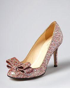56b97b07359 kate spade new york Pumps - Krysta Bow Glitter Shoes - Bloomingdale s
