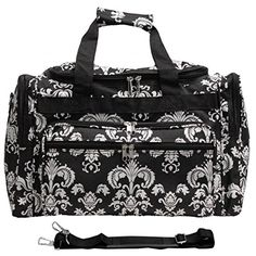 World Traveler Damask Ll Travel Duffle Bag, Black White Damask Ii Luggage Brands, Luggage Store, Black And White Bags, Duffle Bag Travel, Duffle Bags, Weekender, Lightweight Luggage, Bad Girls Club, Go Bags