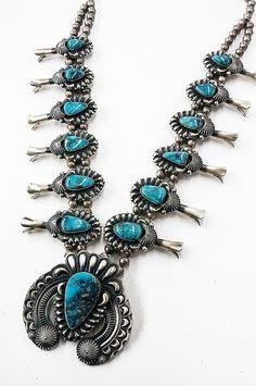 Navajo Jewelry, Gems Jewelry, Indian Jewelry, Silver Jewelry, Jewellery, Kingman Turquoise, Turquoise Stone, Turquoise Jewelry, Squash Blossom