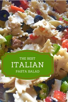 Easy to make on a budget & delicious. The Best Italian Pasta Salad You'll Ever Make. Ingredients 1 – 500g package of Italian Sausage 1 – 500g Box of Bow Tie Pasta 1 – Cucumber, cubed 1 – Pepper, sliced 1/2 – Red Onion, sliced 1 – 375ml can of sliced Black Olives, drained 1 – 150g container of Feta cheese 2 – Carrots, chopped 3 – Celery Stalks, chopped 1/2 bottle – Italian dressing (I like Newman's Own) 2 tsp – White Vinegar Dash of Garlic Powder Dash of Oregano Salt & pepper to...
