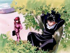Kurama and Hiei.