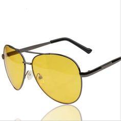 Ochelari de soare clasici, ideali pentru sofat in siguranta, anti-orbire, cu protectie contra luminii orbitoare si reflectiei, vedere pe timp de noapte, ochelari de soare cu lentile galbene Mirrored Sunglasses, Fashion, Moda, Fashion Styles, Fashion Illustrations