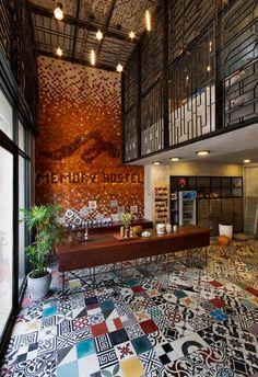 #designmk #design #interior #colorful #hostel #Vietnam #artisticdecor #workingdesk #tiling #traditionaldecor #hostelMemory #GAIA
