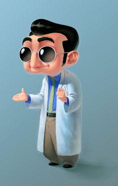 Funny scientist by ~Murfish on deviantART