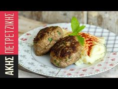 Greek burger patties by Greek chef Akis Petretzikis. The most juicy, aromatic, delicious meatball burgers that are baked in the oven and don't need a bun! Lamb Recipes, Greek Recipes, Raw Food Recipes, Dinner Recipes, Cooking Recipes, Savoury Recipes, Sweets Recipes, Greek Meatballs, Tasty Meatballs