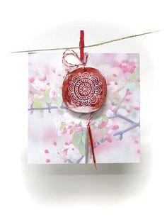 Martisor, Decorative - Folk Flower, Traditional, Handmade, Spring Charm by Alaalina on Etsy