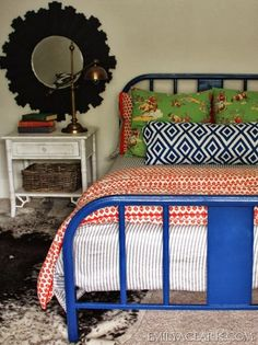 old metal bed frame to paint