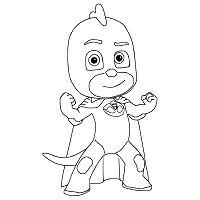 Disegno di geco dei pj masks superpigiamini da stampare e for Disegni pj masks