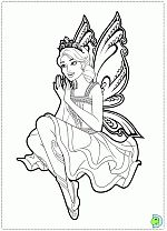 Barbie Mariposa And The Fairy Princess Coloring Pages