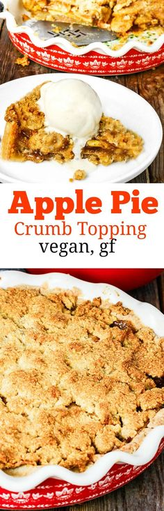 Apple Pie Crumb Topping #veganfood #veganrecipes #glutenfreerecipe #glutenfreevegannyc
