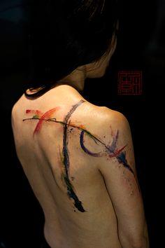 Waterbrush lines by Wang @ Tattoo Temple Hong Kong