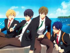 free! FINALLY A PICTURE WHERE HARU INTERACTS WITH MAKOTO IN THAT COMFORTABLE WAY OF THEIRS