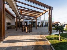 Looks of your house will change when you use pergolas for your patios.  #patios #pergolas