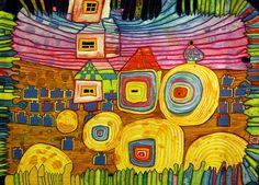 Friedensreich Hundertwasser - Linea Recta