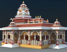 Miniature of a Temple using sunboard. Indian Temple Architecture, India Architecture, Architecture Details, Drawing Architecture, Ancient Architecture, Temple India, Hindu Temple, Civil Engineering Design, Dome Structure