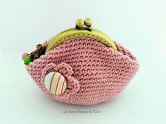 Monedero crochet - Rosa palo-