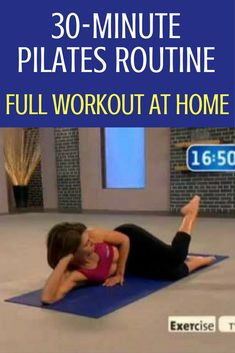 You can do a full, challenging and effective Pilates workout at home in just 30 minutes. Tandy Gutierrez guides you in breathing and how to connect your breath to your Pilates workout for maximum benefit. With Pilates mat work, you use your own muscle. Pilates Workout Videos, Pilates Training, Cardio Training Zu Hause, Great Ab Workouts, Training Fitness, Cardio Workout At Home, At Home Workouts, Gym Workouts, Yoga Videos