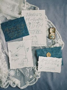 Photography : Laura Gordon Photography | Calligraphy : Written Word Calligraphy | Invitations : Written Word Calligraphy Read More on SMP: http://www.stylemepretty.com/2015/11/12/elegant-cliff-top-ceremony-in-scotland/