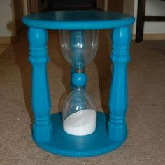 Gigantic timer stool? Yes, please! Of course I would never use it as a time out stool (which was its intended use) but for a game night? AWESOME.