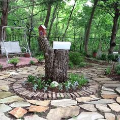 What if you did this with stone instead of filling in concrete... it's kind of neat.