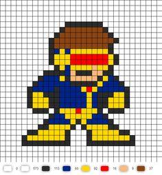 Jim Lee Cyclops Perler Bead Pattern