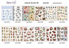 Carte di riso serie 3: 12 carte formato 35x50 in carta di riso Store online: www.deco-chic.it