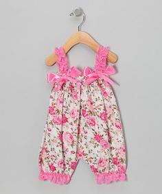 Take a look at this Pink Rose Bubble Romper - Infant & Toddler by Head over Heels on #zulily today!