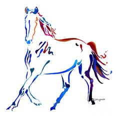 Horse Of Many Colors Painting  - Horse Of Many Colors Fine Art Print