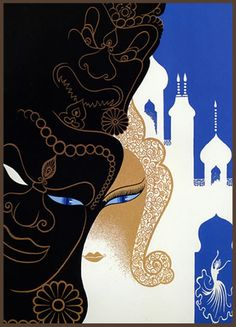 Erte 1989 Mask & Mosques | Flickr - Photo Sharing!