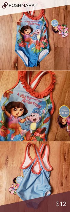 67619fbbb939 NWT Nickelodeon Dora Rainforest Swimsuit 12 Mo New with tags adorable  Rainforest motif Dora the Explorer. MonkeyBest DealsSize 12SwimsuitsOne ...