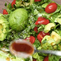 OMG! There is seriously nothing better than a nice salad with a lovely drizzle of dressing on top.