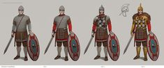 From that time when I was drawing some armoured dudes for Total War: Attila Fantasy Character Design, Character Inspiration, Character Art, Total War Attila, Byzantine Army, Roman Armor, Creature Concept Art, Sword And Sorcery, Armor Concept